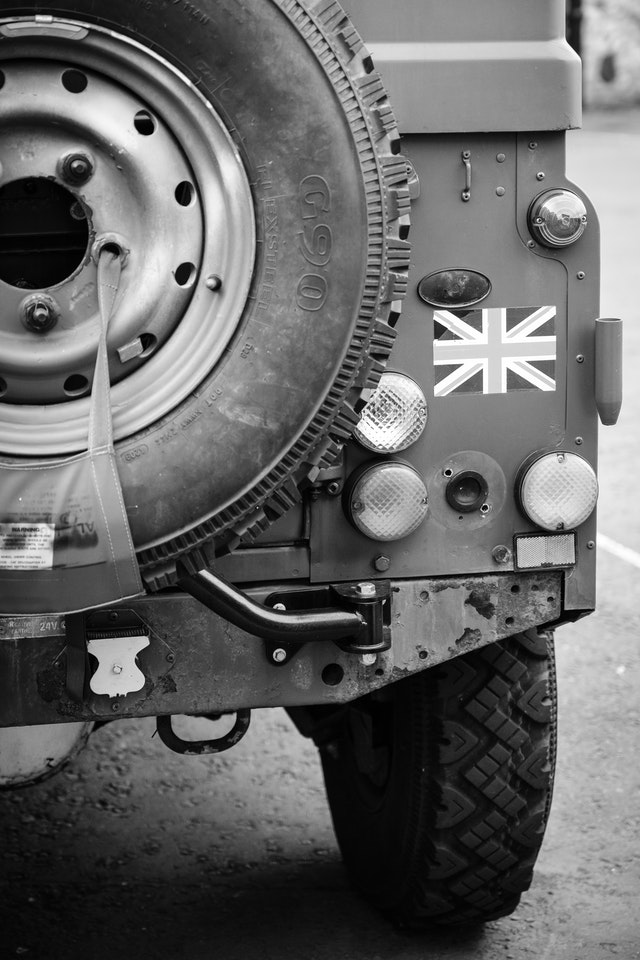 The back of a military Land Rover at Edinburgh Castle.
