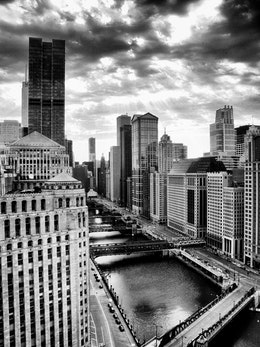 The Chicago Loop, seen from the Merchandise Mart.