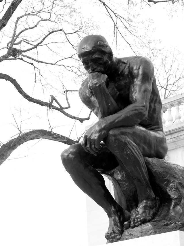 The Thinker, at the Rodin Museum in Philadelphia.