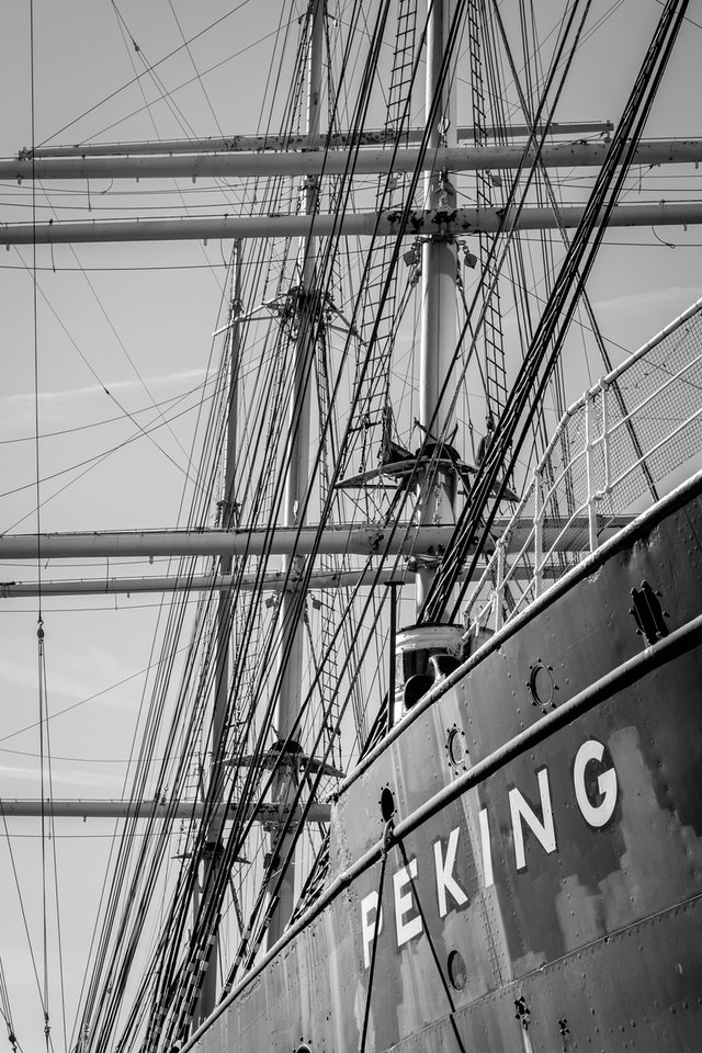 The four-masted barque Peking, at the South Street Seaport Museum.