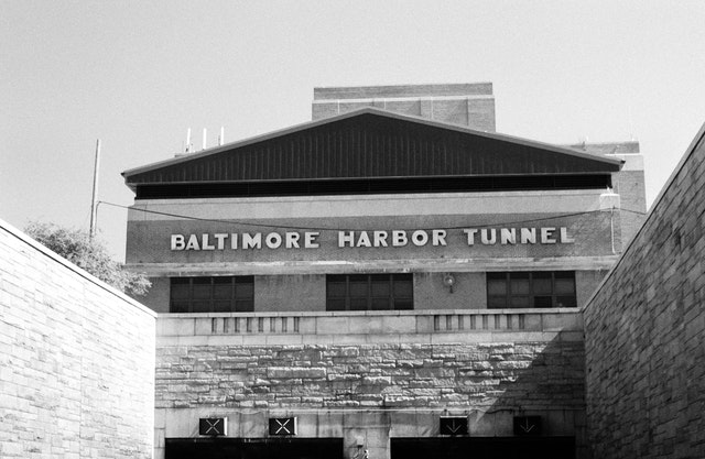 The entrance to the Baltimore Harbor Tunnel.