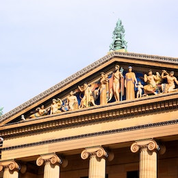 Pediment of the Philadelphia Museum of Art.