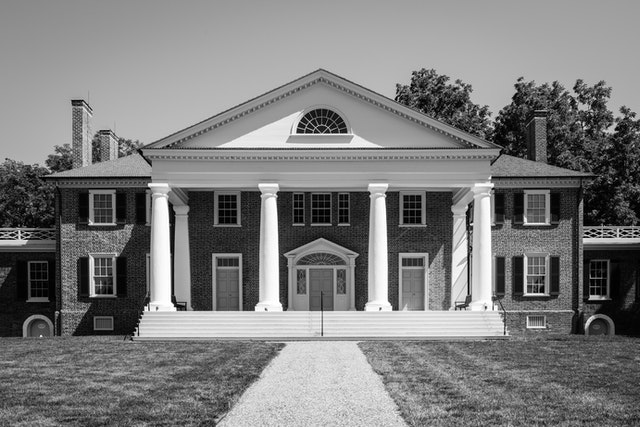 James Madison's Montpelier mansion in Orange, Virginia.