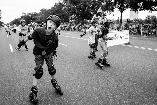 A roller skater on the Independence Day Parade in Washington, DC.