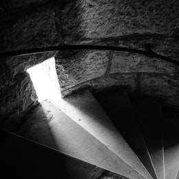 The stairs inside the Wilder Tower at Chickamauga National Military Park.
