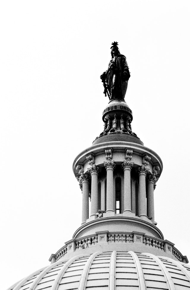 The Statue of Freedom, atop the United States Capitol.