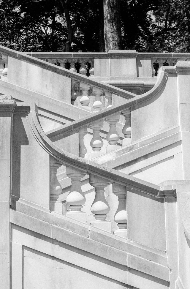 Stairs at Winterthur Museum in Wilmington, Delaware.
