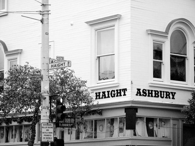 Corner of Haight & Ashbury.
