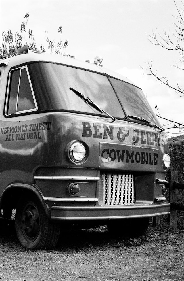 The Ben & Jerry Cowmobile.