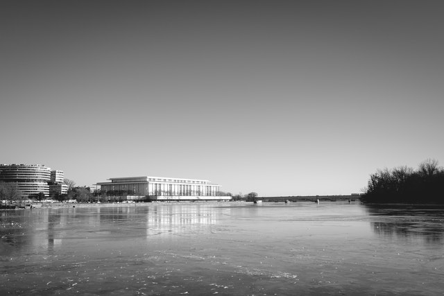The Kennedy Center, from the Georgetown Waterfront.