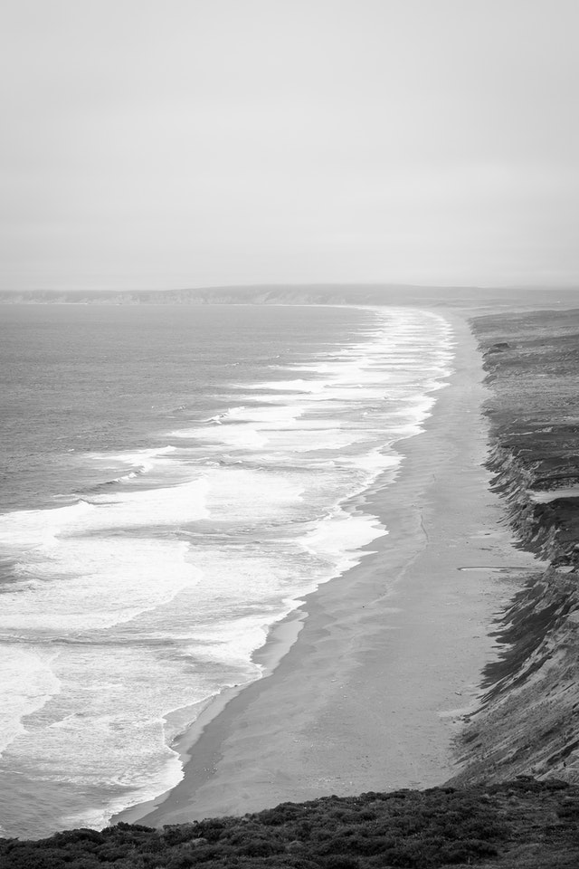 The Point Reyes seashore, from the lighthouse.