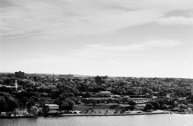 Poughkeepsie, from the Walkway Over the Hudson.