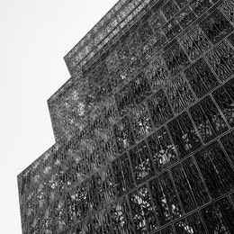 The facade of the National Museum of African American History and Culture.