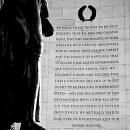 Part of the Declaration of Independence at the Jefferson Memorial.