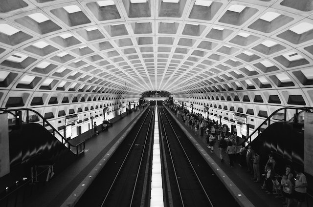 The Farragut West Metro Station in Washington, DC.