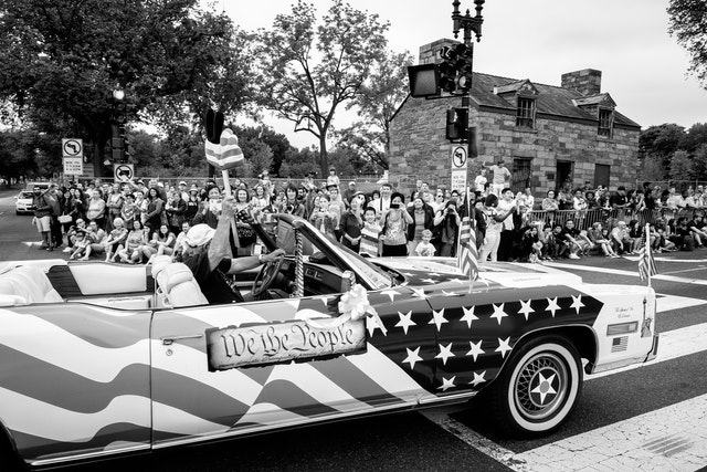The Spirit of 76 El Dorado, driving on the Independence Day Parade in Washington, DC.