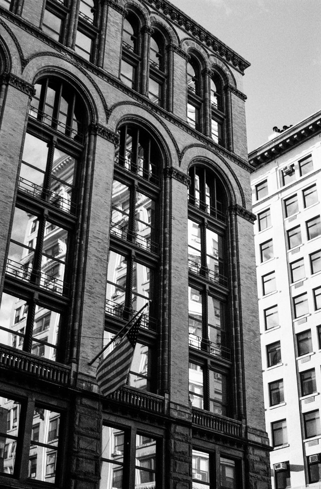 A building on Broadway, New York City.
