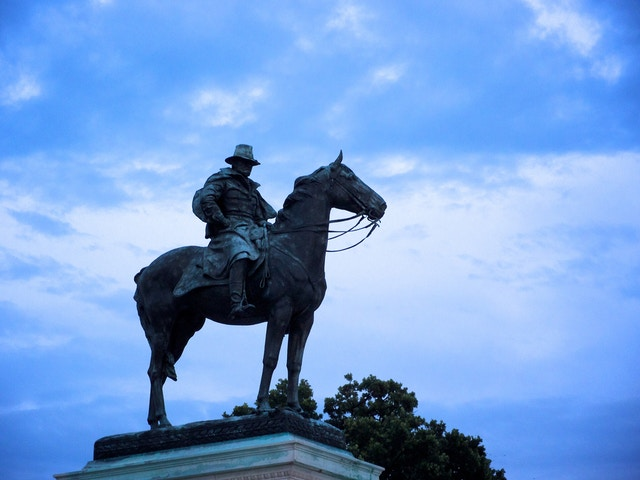 Ulysses S. Grant Memorial, at the base of Capitol Hill, Washington, DC.