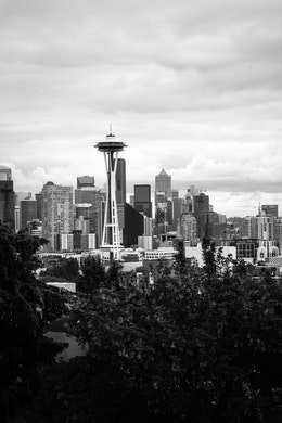 The view of the Space Needle and the Seattle skyline from Kerry Park.