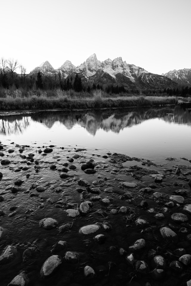 The Snake River and the Tetons, seen from Schwabacher Landing.