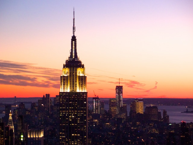 New York at sunset, from the Top of the Rock.