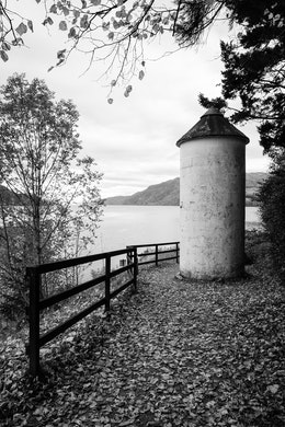 A small silo along the shores of Loch Ness.
