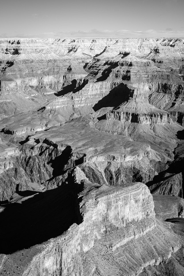 The North Rim of the Grand Canyon, seen from Hopi Point.