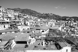 View of the Taxco landscape.