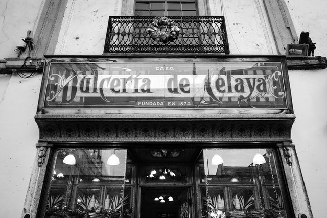 The sign at the Dulcería de Celaya storefront in Mexico City.