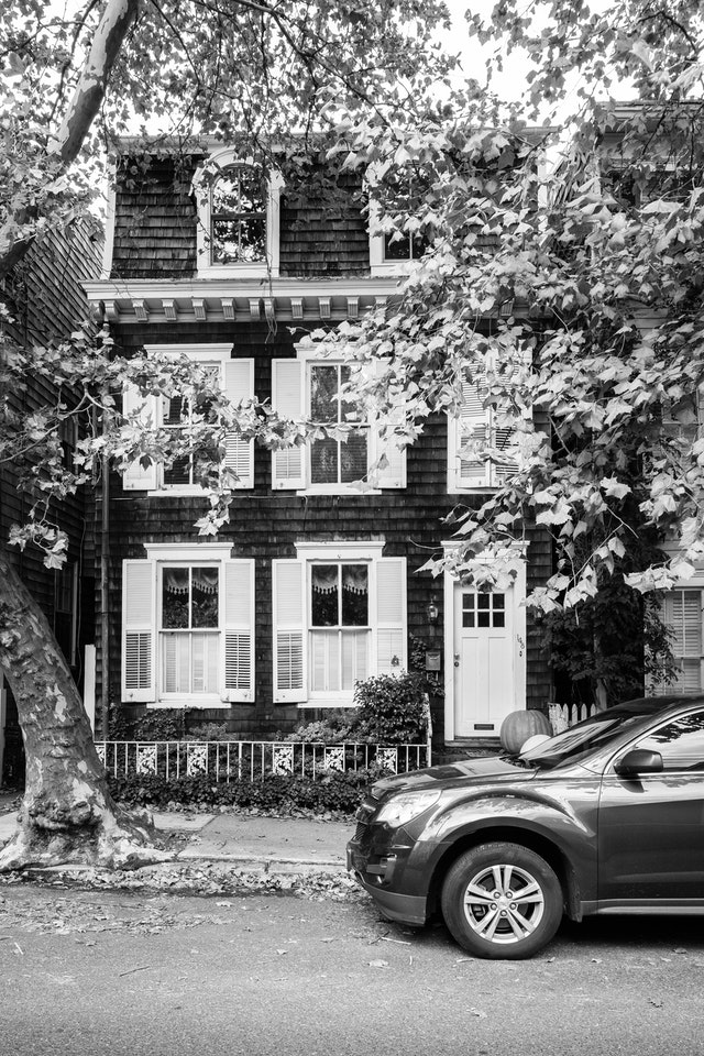 The front of a pretty house in Annapolis, Maryland.