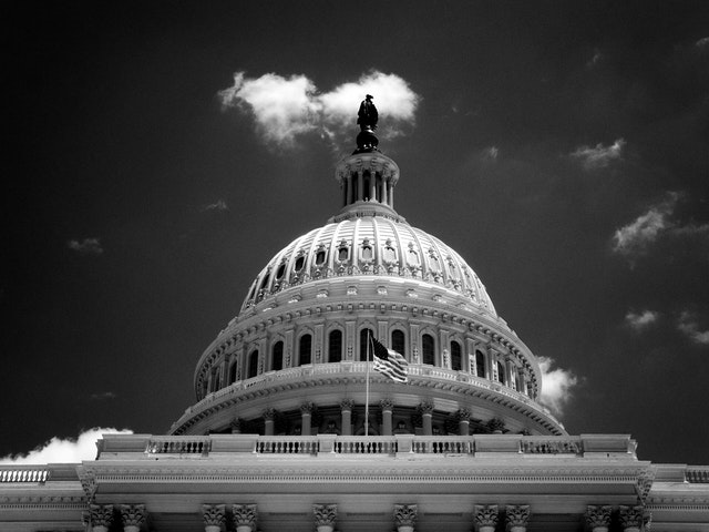 Dome of the United States Capitol Building.