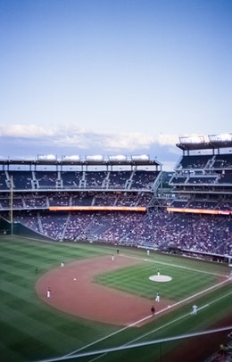 The Nats playing the Phillies at Nationals Park.