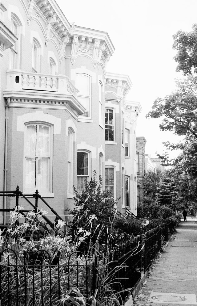 Row houses in Capitol Hill.