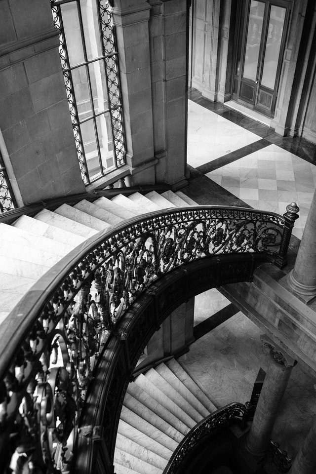 Main stairway of the National Museum of Art in Mexico City.
