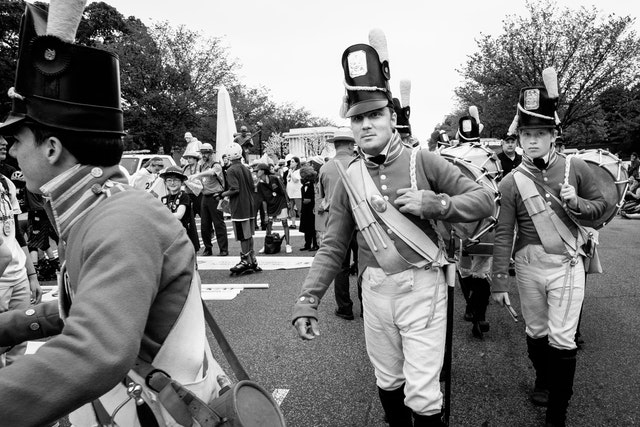The Fort McHenry Guard Fife and Drum Corps.