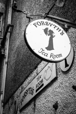 A sign for Forsyth's Tea Room.