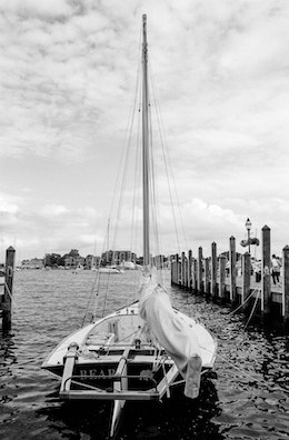 "A sailboat called ""Bear"" at Annapolis, Maryland."