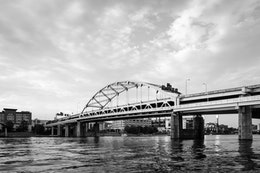 The Fort Duquesne bridge in Pittsburgh.