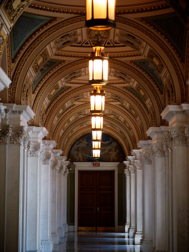 A hallway at the Library of Congress.