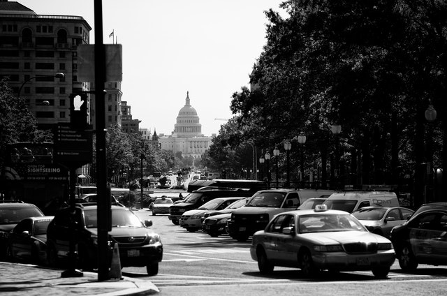 The Capitol Building from Pennsylvania Avenue.