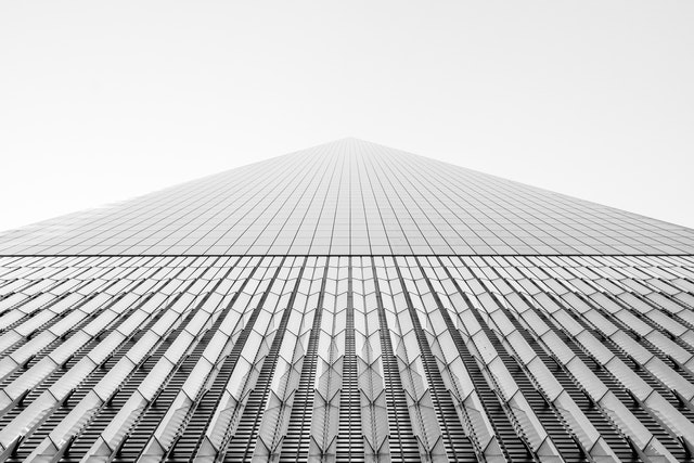 Looking up at One World Trade Center.