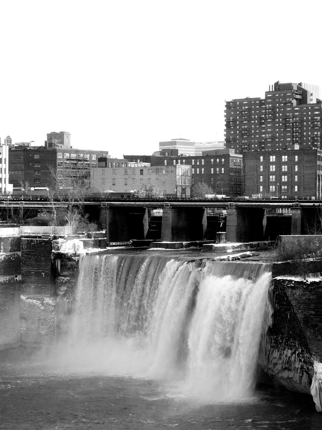 High Falls, in Rochester, New York.