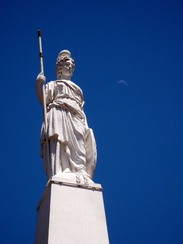 A statue at the Plaza de Mayo, Buenos Aires.