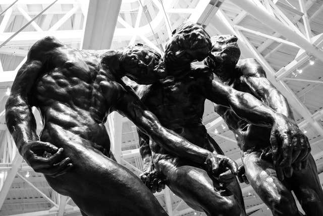 """""""Les Trois Ombres"""" (The Three Shades), by Auguste Rodin, at the Museo Soumaya in Mexico City."""