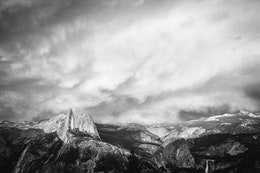 Half Dome as seen from Glacier Point as a storm clears.