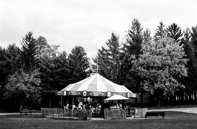 A carousel at the Shelburne Museum, Vermont.