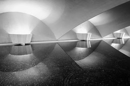 Lamps in an underpass at Point State Park.
