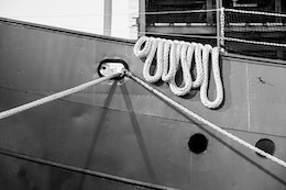 Ropes on the Lightship Ambrose at the South Street Seaport Museum.