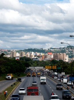 Caracas, looking east over the Francisco Fajardo highway from Altamira.