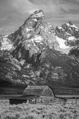 The John Moulton barn, in front of Grand Teton.